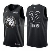 Minnesota Timberwolves Karl-Anthony Towns 32# Svart 2018 All Star Game NBA Basketlinne..